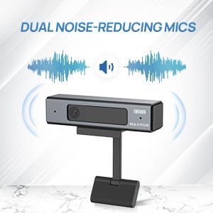 Dual noise-reducing mics
