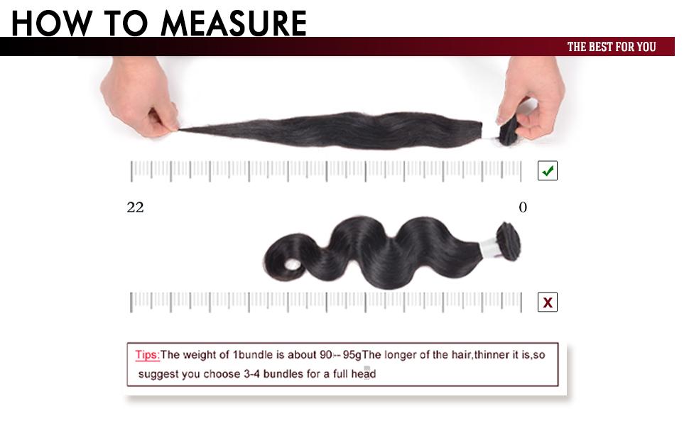 how to measure hair bundles