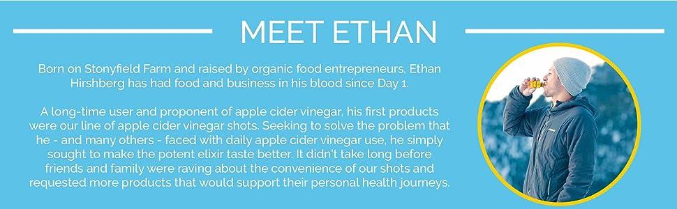 Created to make apple cider vinegar shots taste better, Ethan's creates healthy daily shots