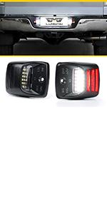 Red OLED SMD License Plate light Assembly
