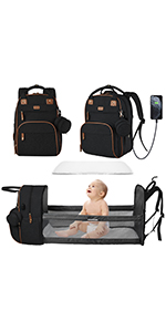 diaper bag backpack with changing station baby backpack diaper bag USB charging