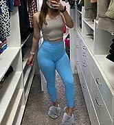 yoga pants blue