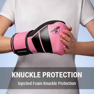 Youth Wearing Hayabusa S4 Kids Pink Boxing Gloves
