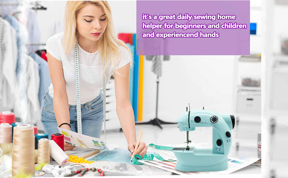 Beginners portable sewing machine
