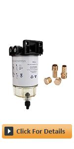 S3213 Marine Fuel Water Separator Filter Assembly with Clear Bowl 18-7922, 3/8 Inch NPT Port
