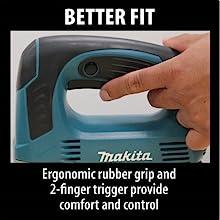 better fit ergonomic rubber grip two finger trigger provides user comfort