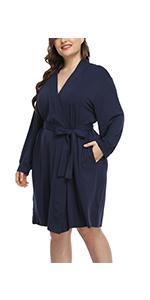 plus size kimono robe lightweight bathrobe super soft maternity robe nightgown casual nightwear robe