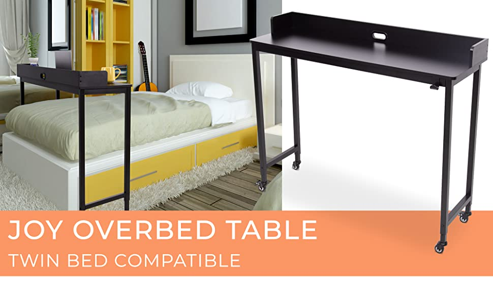 Work from home with you perfect twin sized overbed table   Joy by Stand Steady