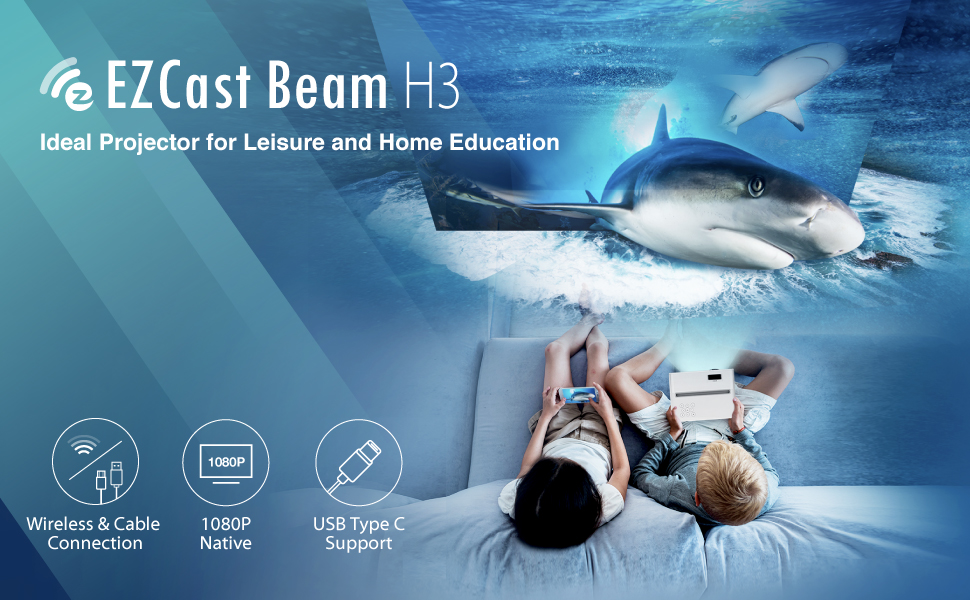 EZCast Beam H3 Ideal Projector for Leisure and Home Education