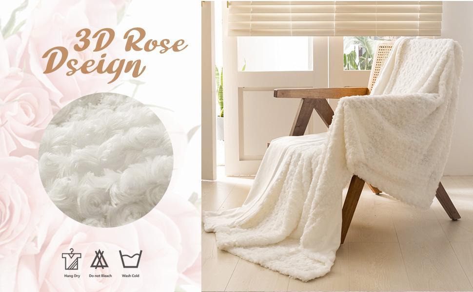 rose throw blanket