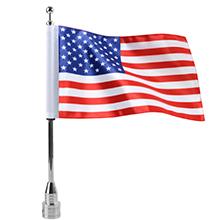 harley motorcycle flag with chrome flagpole