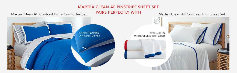 Martex Clean AF Pinstripe Sheet Set