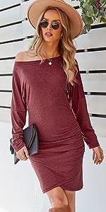 womens bodycon one shoulder dress