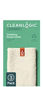 Cleanlogic Sustainable line Exfoliating Stretch cloths