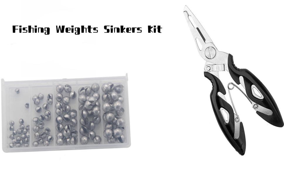 fishing weights sinkers kit