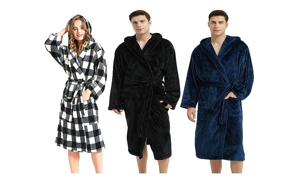 womens bathrobe with hood