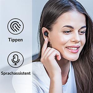 Ohrhörer Berührungssteuerung und Sprachassistent