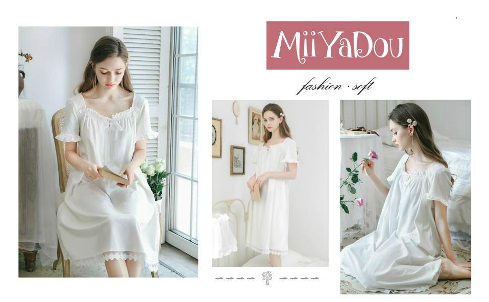 Long Sleepwear for Women - Cotton Women's Nightgowns