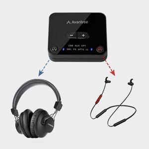 Pre-paired tv headphones set