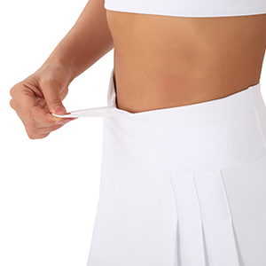 Tummy control Elastic drawstring High waist the skirt won't ride up or roll down