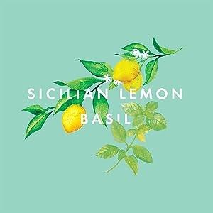 NEOM Feel Refreshed fragrance illustration with lemons and basil