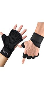Ventilated Weight Lifting Gloves for Men