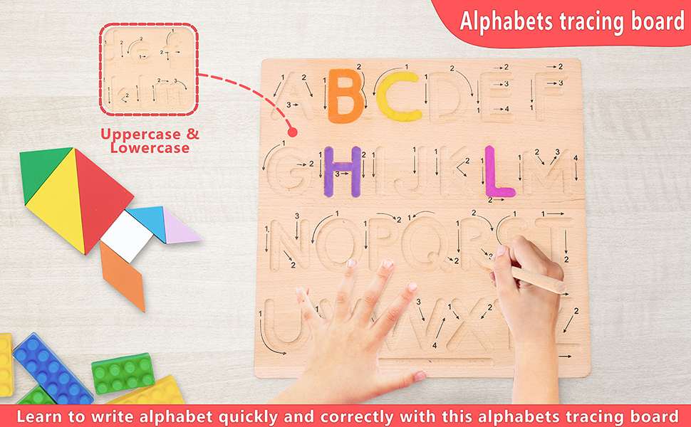 Wooden Letters Practicing Board