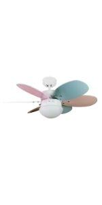 Ventilateur de plafond avec lumière pour enfants