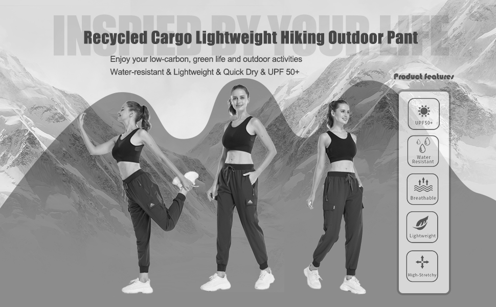 Women's recycled cargo hiking pant