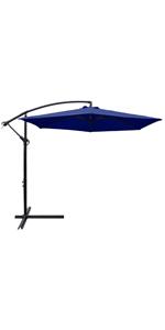 10 ft Patio Offset Umbrella (Navy Blue)