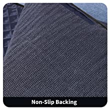 PVC non-slip rubber backing,which greatly improves the safety of the dog in the car