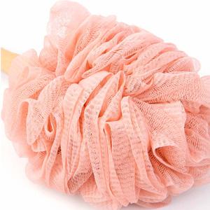 shower brush with soft sponge exfoliating skin and a soft scrub