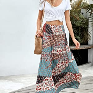 flowy maxi skirts
