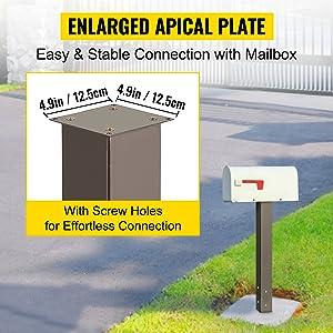 steel mailbox post