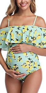 lemon maternity swimsuit