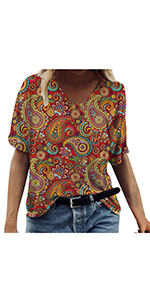 Summer Printed Loose Blouses(S-3XL)