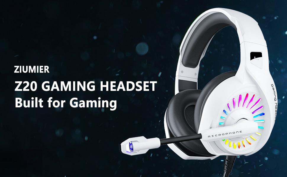 gaming headset white
