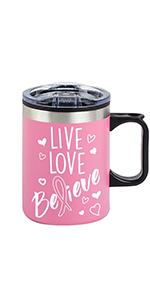 coffee mug, breast cancer awareness