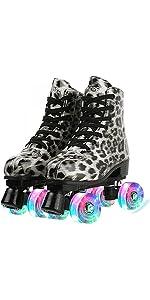 Leopard Roller Skates for Women