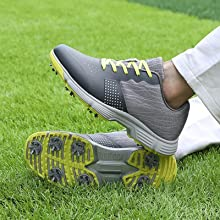 Gray Golf Shoes Spikes