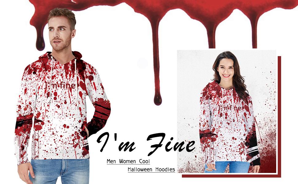 Men and Women I'm Fine Fleece Hoodie