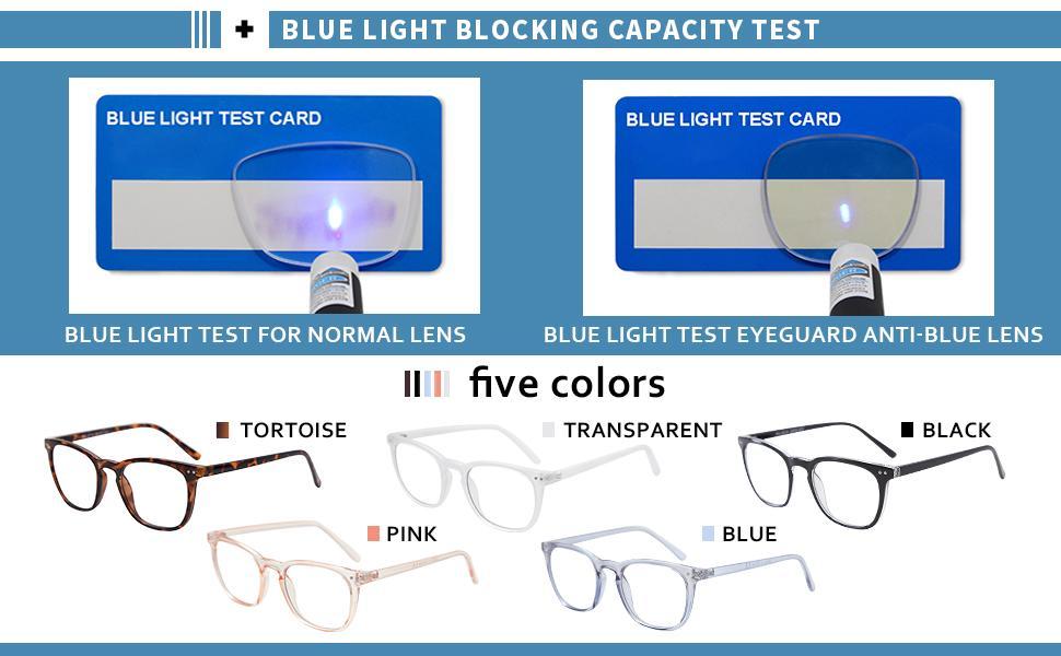 Blue Light Blocking Glasses for Women Men Computer Game Glasses