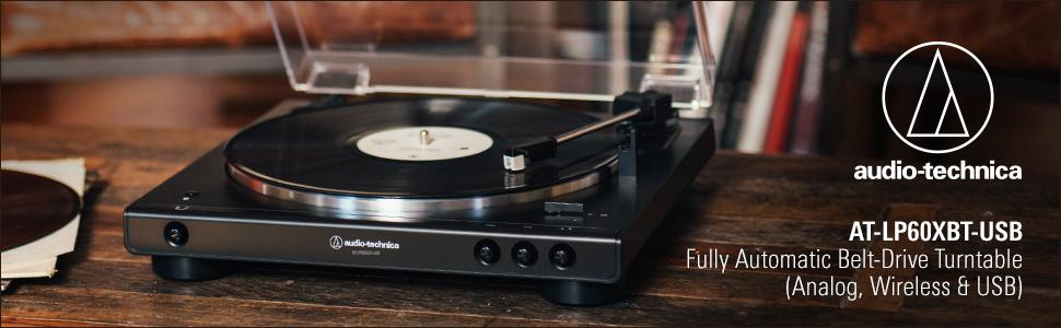 AT-LP60XBT-USB Fully Automatic Belt-Drive Turntable (Analog, Wireless & USB)