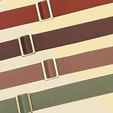 Matte gold bag buckle strap