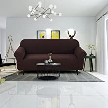 Waterproof Sofa Covers for 3 Cushion Couch, Black Slipcover Sofa, High Stretchable Sofa Cover