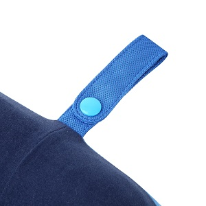 this pillow can be attached to your carry on luggage without taking up extra space
