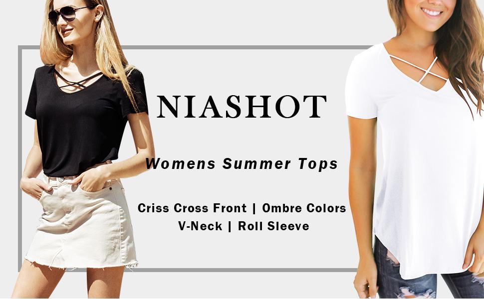 NIASHOT Womens Summer Tops