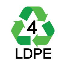 LDPE 4 Recycle Symbol