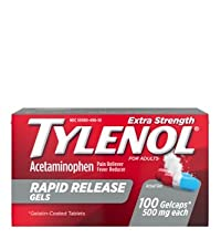 Tylenol Rapid Release Gels with acetaminophen pain reliever and fever reducer medicine