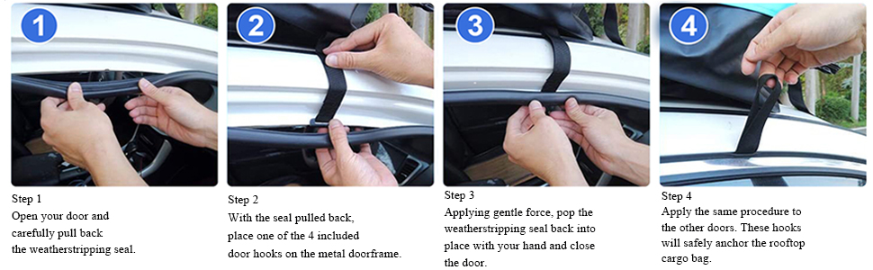 Steps for Installation without Car Roof racks